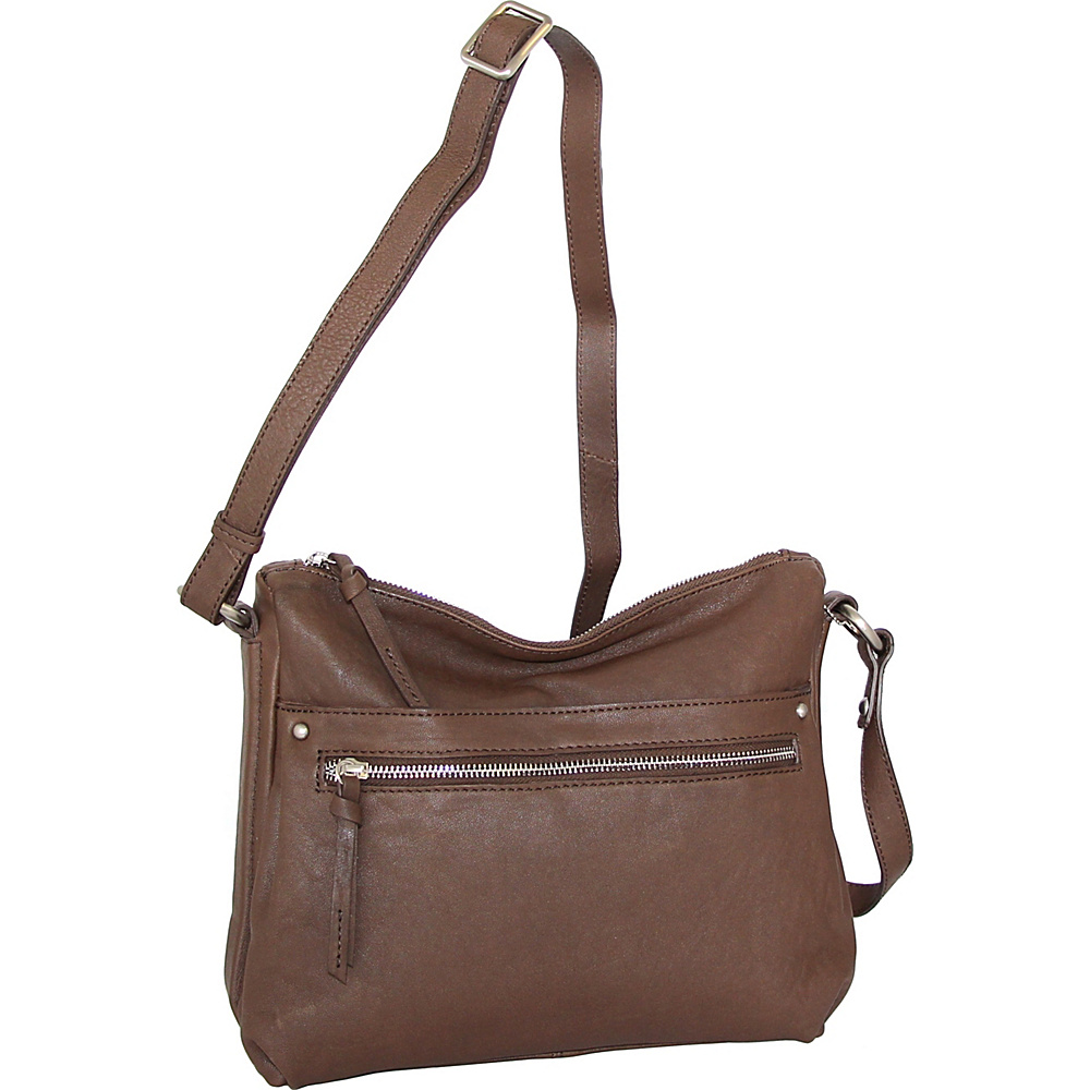 Nino Bossi Lidia Crossbody Brown - Nino Bossi Leather Handbags - Handbags, Leather Handbags