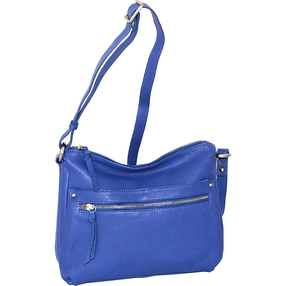 Nino Bossi Lidia Crossbody Cobalt - Nino Bossi Leather Handbags - Handbags, Leather Handbags