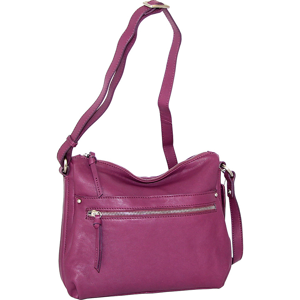 Nino Bossi Lidia Crossbody Plum - Nino Bossi Leather Handbags - Handbags, Leather Handbags
