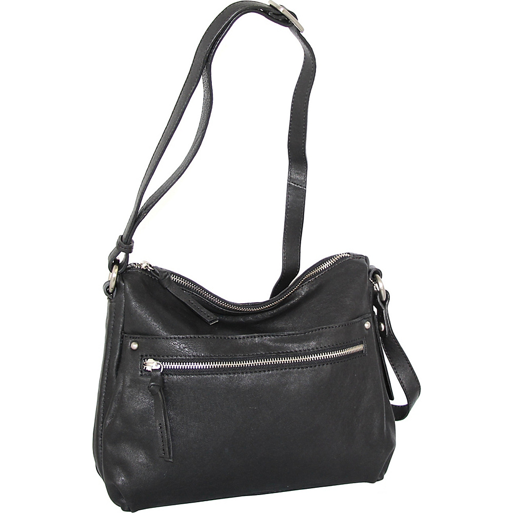 Nino Bossi Lidia Crossbody Black - Nino Bossi Leather Handbags - Handbags, Leather Handbags
