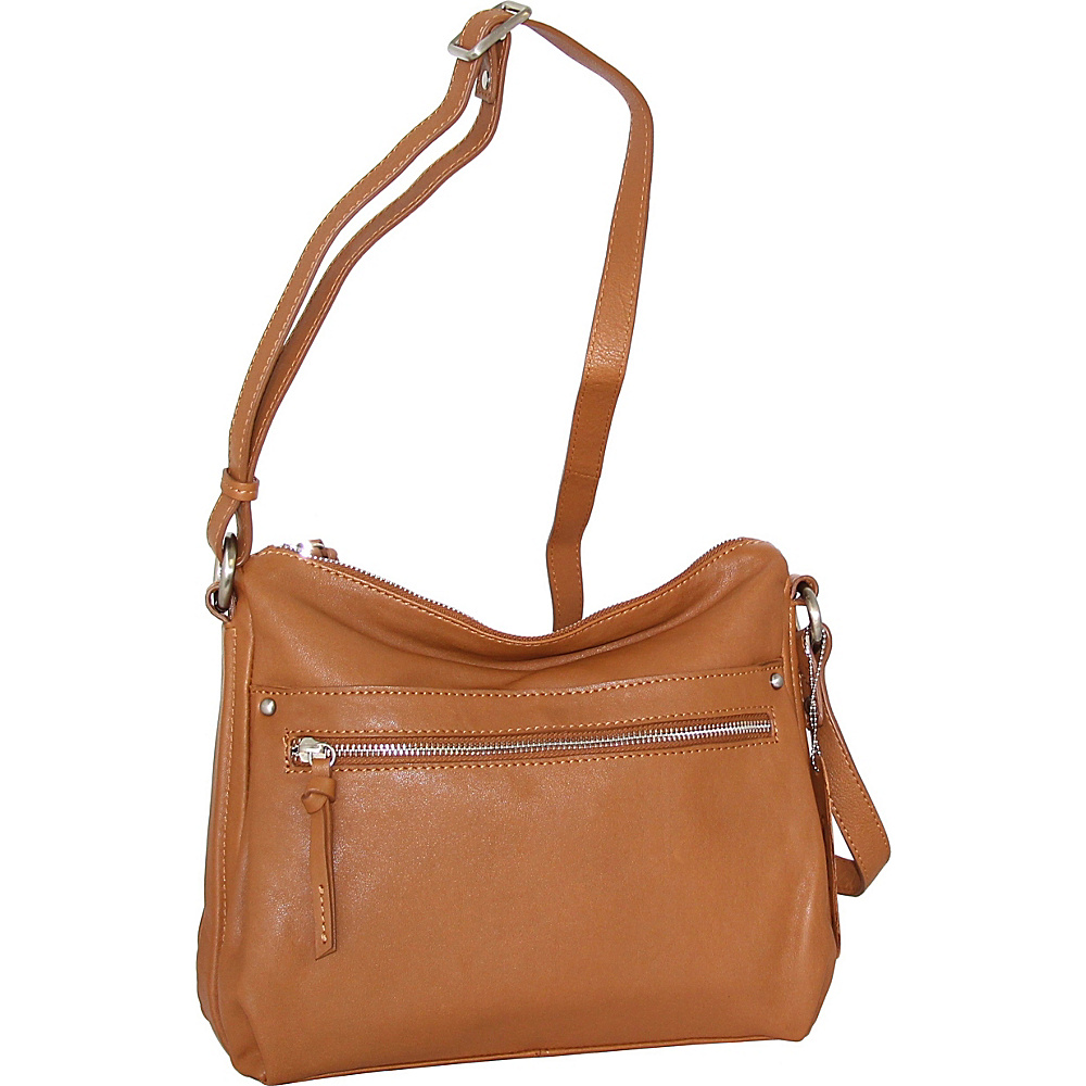 Nino Bossi Lidia Crossbody Cognac - Nino Bossi Leather Handbags - Handbags, Leather Handbags