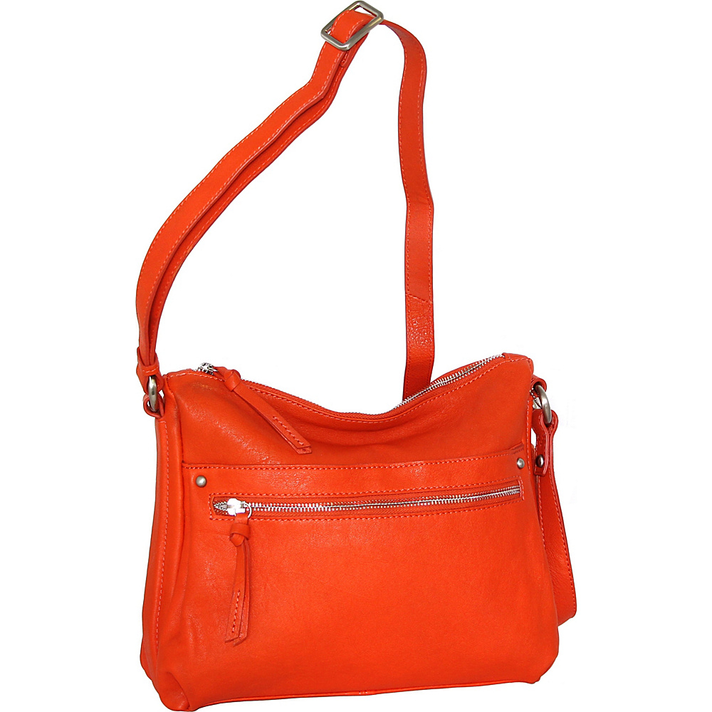 Nino Bossi Lidia Crossbody Tangerine - Nino Bossi Leather Handbags - Handbags, Leather Handbags