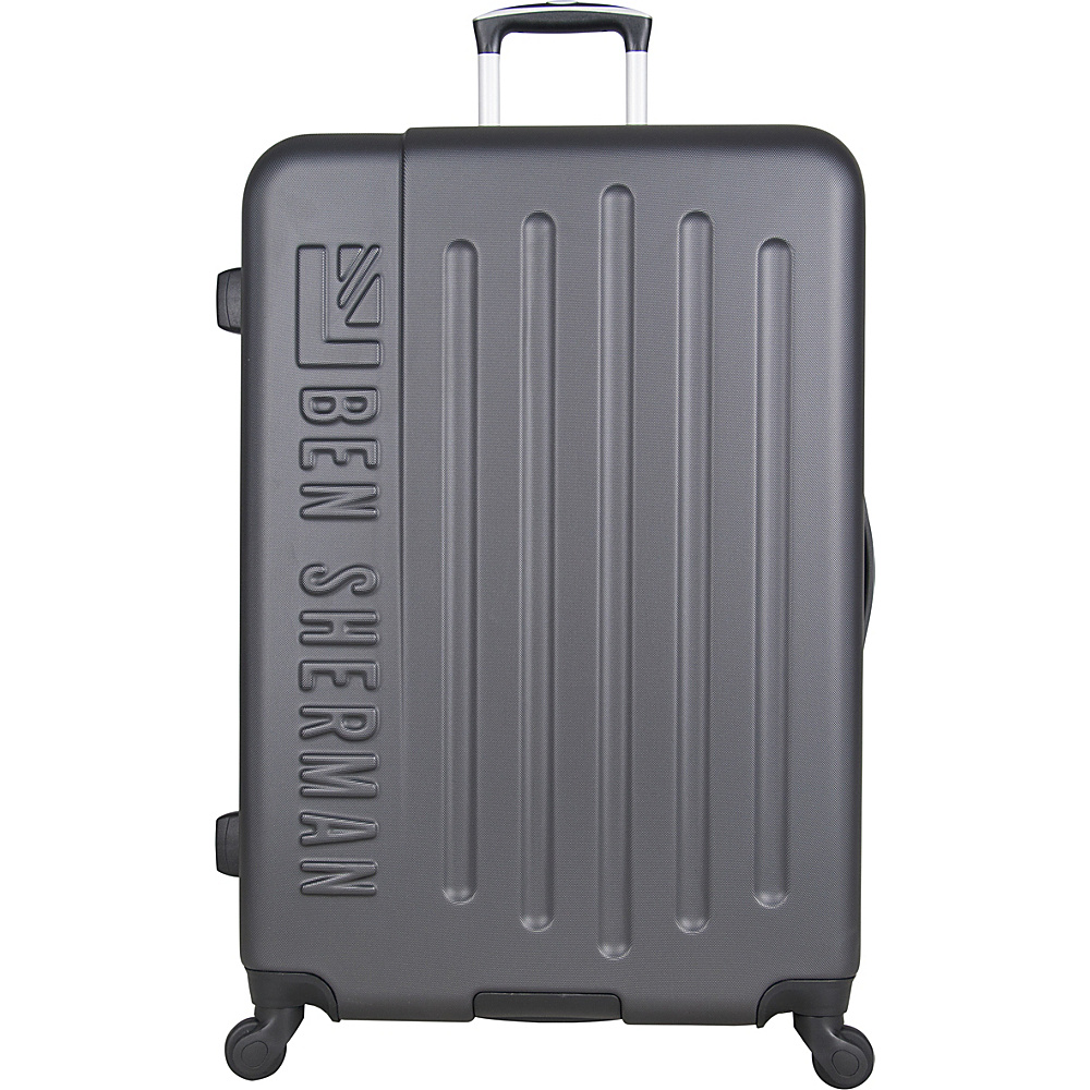 bf216c3ebb Ben Sherman Luggage Leicester 28 Lightweight Hardside Checked Spinner  Luggage Charcoal With Sulphur Color Pop -