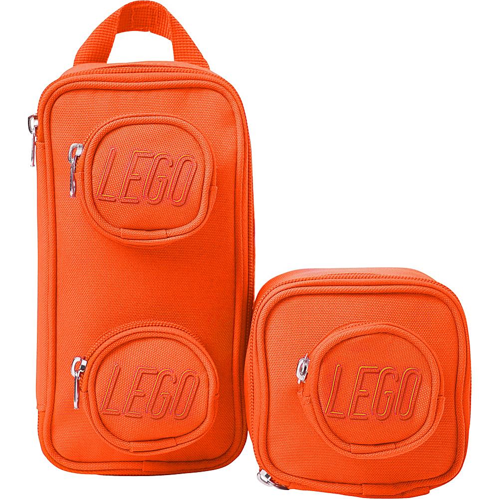 Lego Brick Mini Backpack & Pouch Orange Lego Travel Organizers