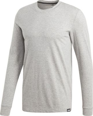 adidas outdoor Mens Long Sleeve Graphic Tee M - Medium Grey Heather - adidas outdoor Men's Apparel 10674151