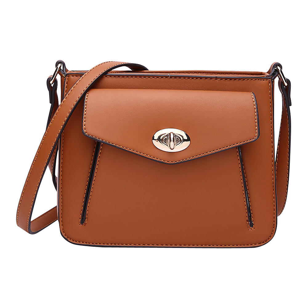 MKF Collection by Mia K. Farrow Darleen Crossbody Cognac Brown - MKF Collection by Mia K. Farrow Manmade Handbags - Handbags, Manmade Handbags