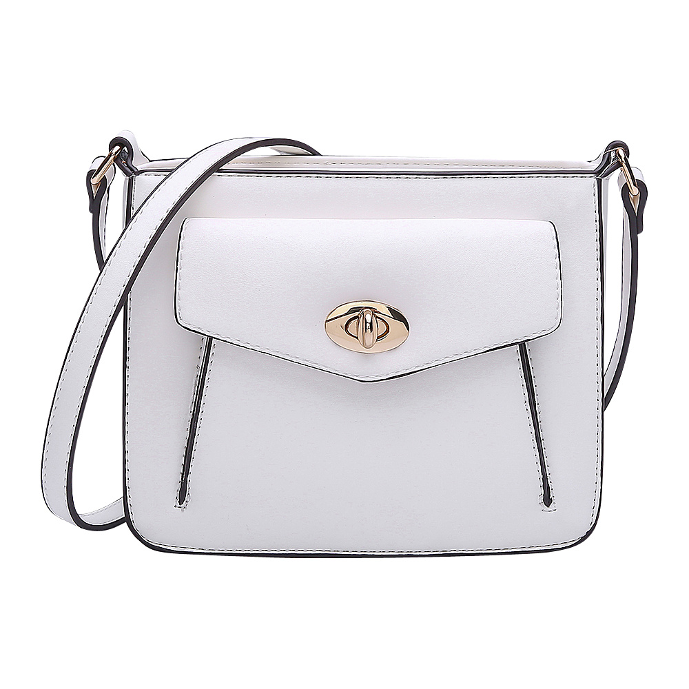 MKF Collection by Mia K. Farrow Darleen Crossbody White - MKF Collection by Mia K. Farrow Manmade Handbags - Handbags, Manmade Handbags