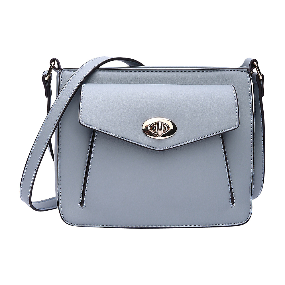 MKF Collection by Mia K. Farrow Darleen Crossbody Light Blue - MKF Collection by Mia K. Farrow Manmade Handbags - Handbags, Manmade Handbags