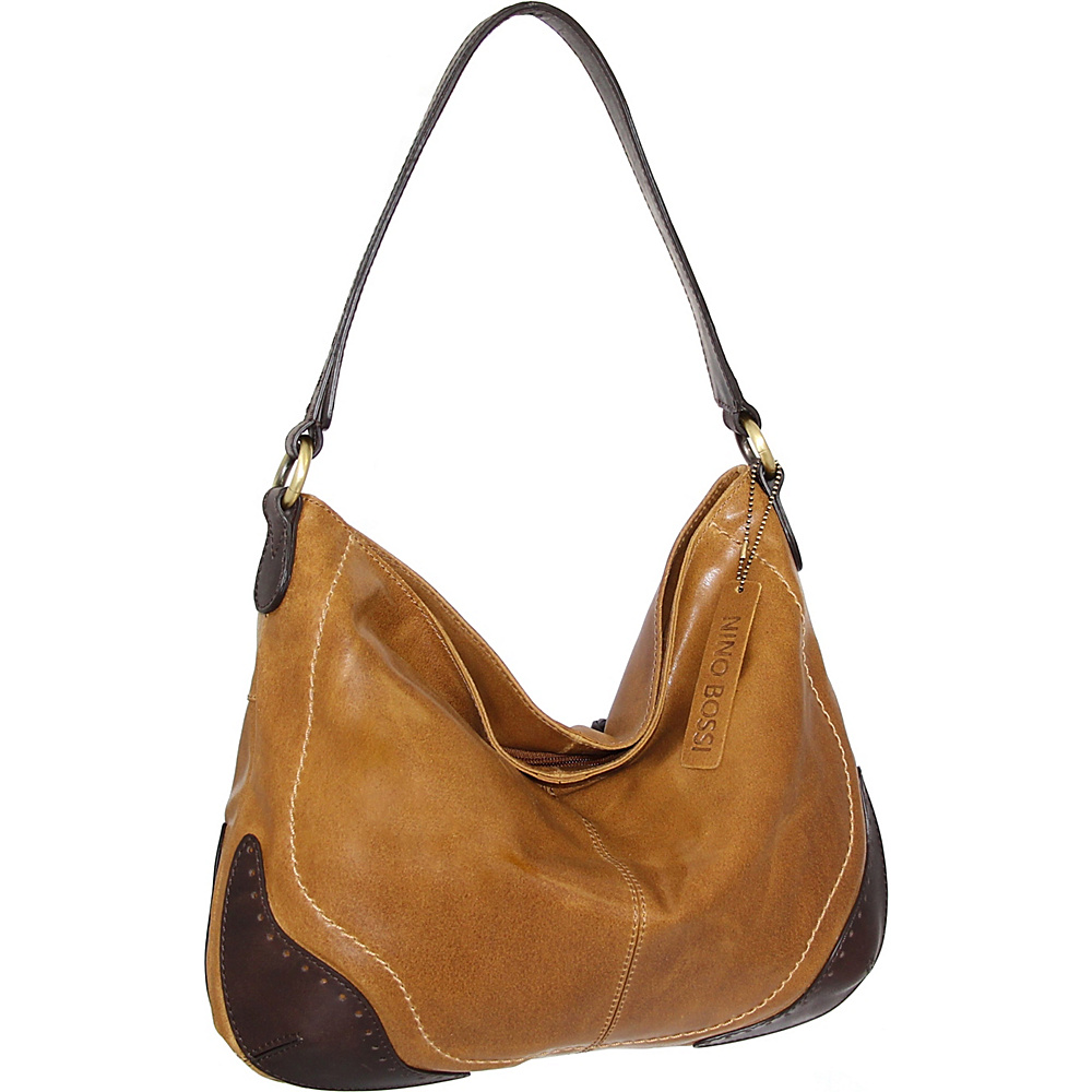 Nino Bossi Brandy Hobo Saddle - Nino Bossi Leather Handbags - Handbags, Leather Handbags
