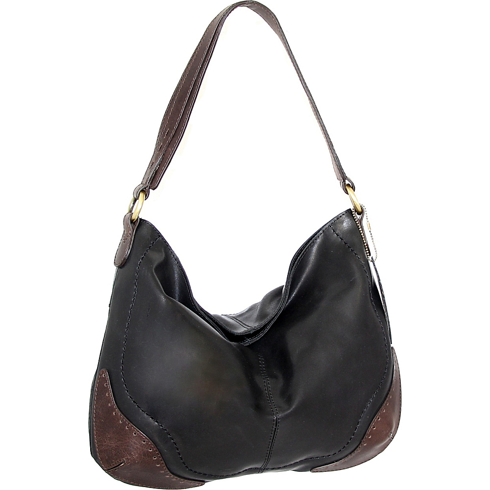 Nino Bossi Brandy Hobo Black - Nino Bossi Leather Handbags - Handbags, Leather Handbags