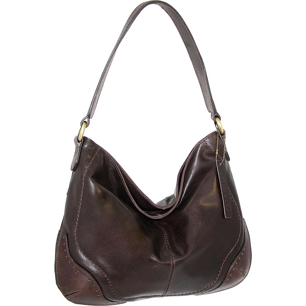 Nino Bossi Brandy Hobo Brown - Nino Bossi Leather Handbags - Handbags, Leather Handbags