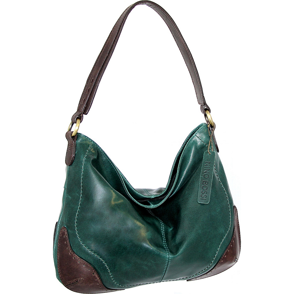 Nino Bossi Brandy Hobo Green - Nino Bossi Leather Handbags - Handbags, Leather Handbags
