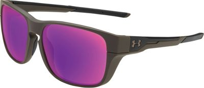 Under Armour Eyewear Pulse Sunglasses Satin Carbon/Black/Infrared Mirror - Under Armour Eyewear Sunglasses