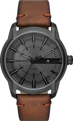 Diesel Watches Men's Armbar Three-Hand Brown Leather Watc...
