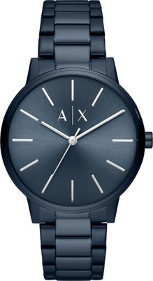 A/X Armani Exchange Men's Three-Hand Blue Stainless Steel...