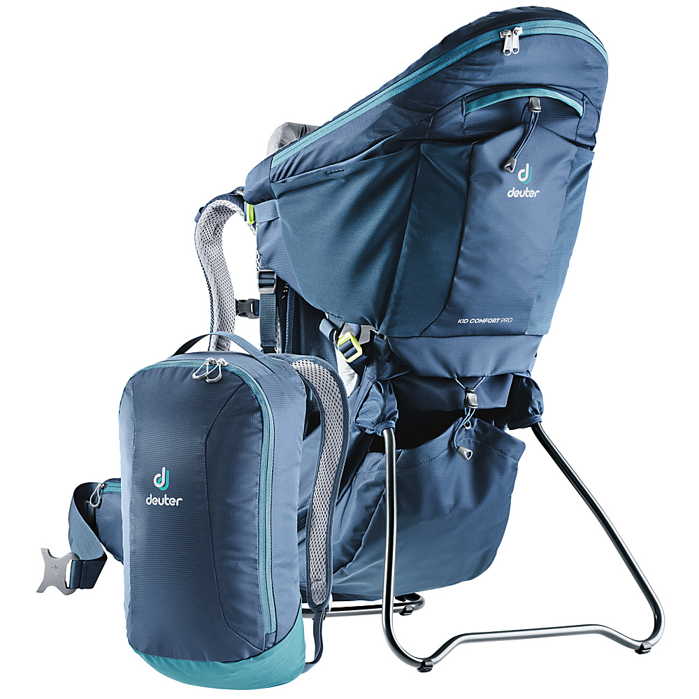 Deuter Kid Comfort Pro Kid Carrier Midnight - Deuter Baby Carriers Kid Comfort Pro Kid Carrier Midnight. For parents looking for a safe child carrier with top comfort for their kids and themselves, plus extra features and storage.