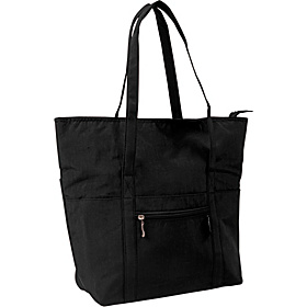 Expandable Tote Crinkle Nylon Black