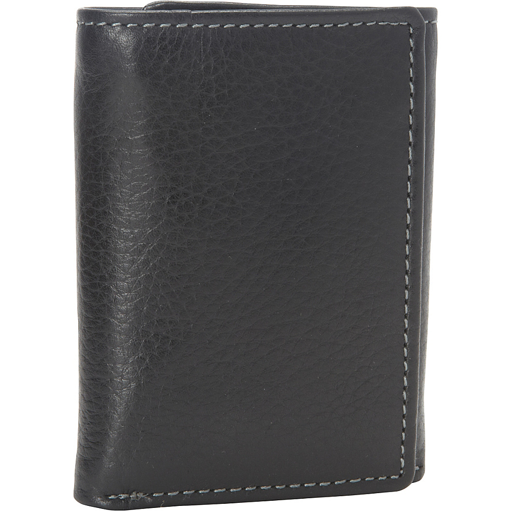 Buxton Metropolis Three Fold Wallet - Black - Work Bags & Briefcases, Men's Wallets