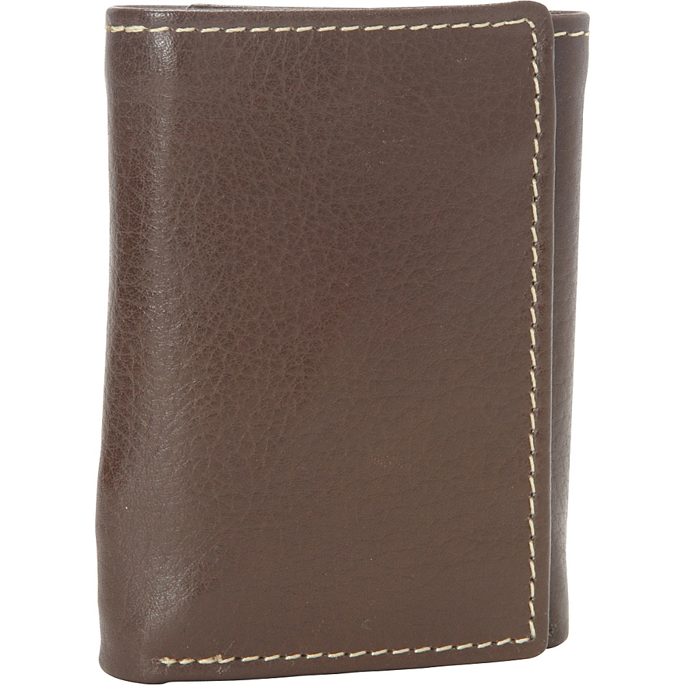 Buxton Metropolis Three Fold Wallet - Brown - Work Bags & Briefcases, Men's Wallets