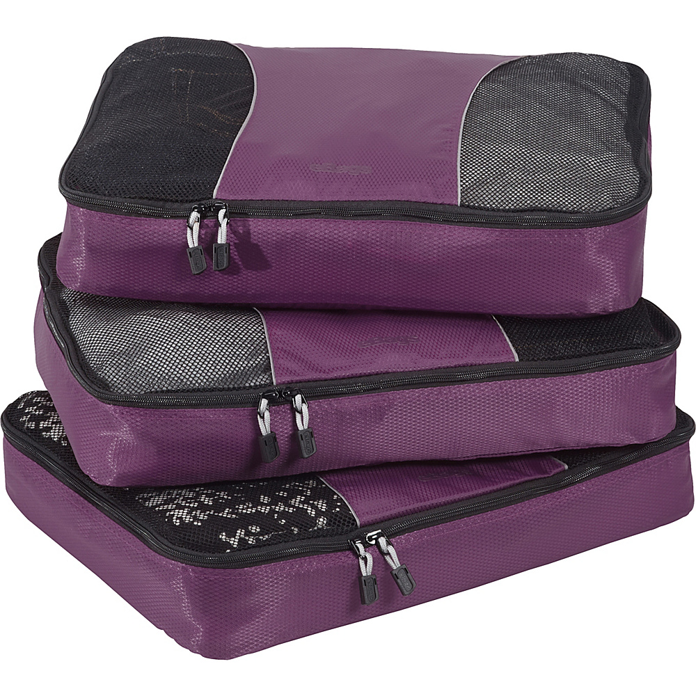 eBags Large Packing Cubes - 3pc Set Eggplant - eBags Travel Organizers - Travel Accessories, Travel Organizers
