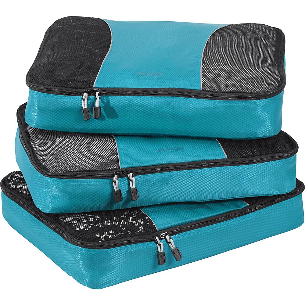 eBags Large Packing Cubes - 3pc Set Aquamarine - eBags Travel Organizers - Travel Accessories, Travel Organizers