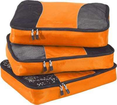 eBags Large Packing Cubes - 3pc Set Tangerine - eBags Travel Organizers