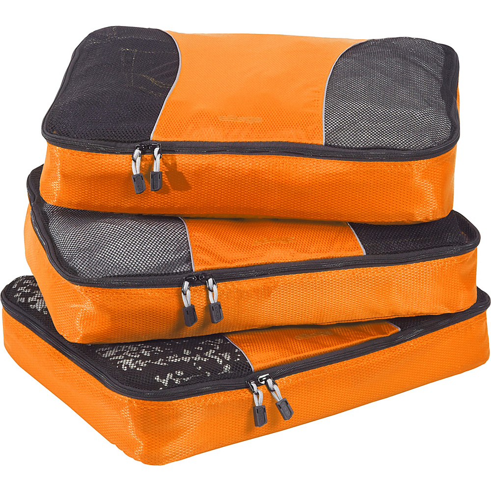 eBags Large Packing Cubes - 3pc Set Tangerine - eBags Travel Organizers - Travel Accessories, Travel Organizers