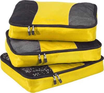 eBags Large Packing Cubes - 3pc Set Canary - eBags Travel Organizers