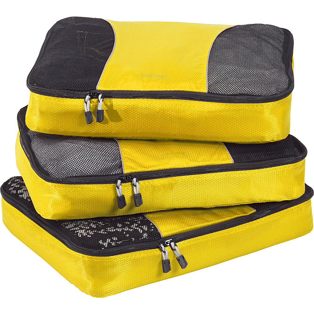 eBags Large Packing Cubes - 3pc Set Canary - eBags Travel Organizers - Travel Accessories, Travel Organizers