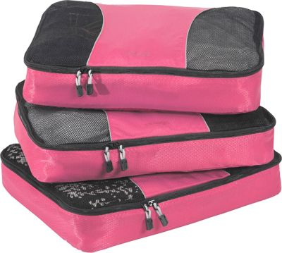 eBags Large Packing Cubes - 3pc Set Peony - eBags Travel Organizers