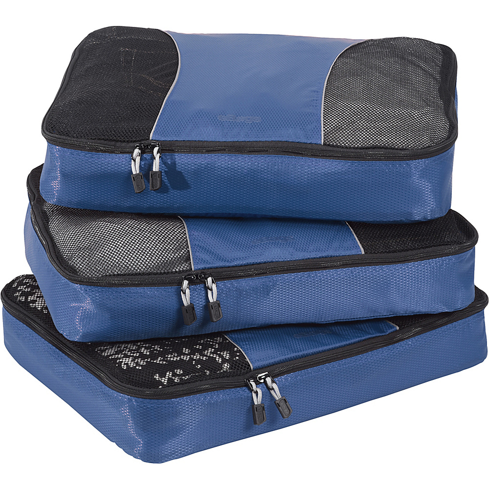 eBags Large Packing Cubes - 3pc Set - Denim - Travel Accessories, Travel Organizers