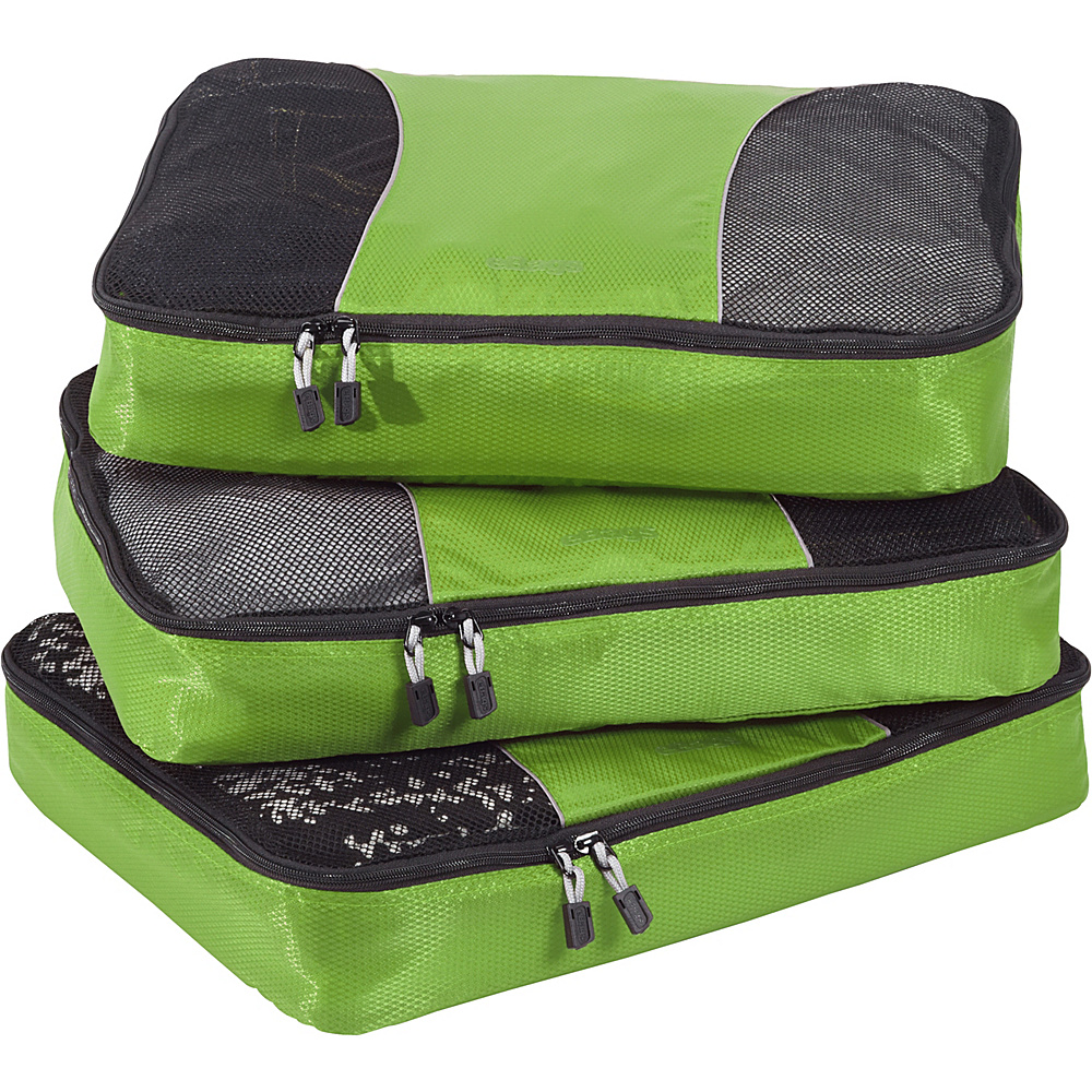 eBags Large Packing Cubes - 3pc Set - Grasshopper - Travel Accessories, Travel Organizers