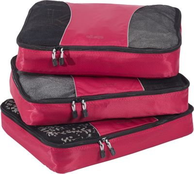 eBags Large Packing Cubes - 3pc Set - Raspberry