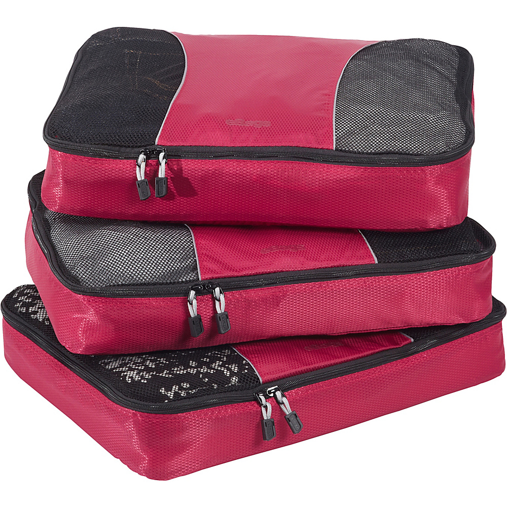 eBags Large Packing Cubes - 3pc Set - Raspberry - Travel Accessories, Travel Organizers