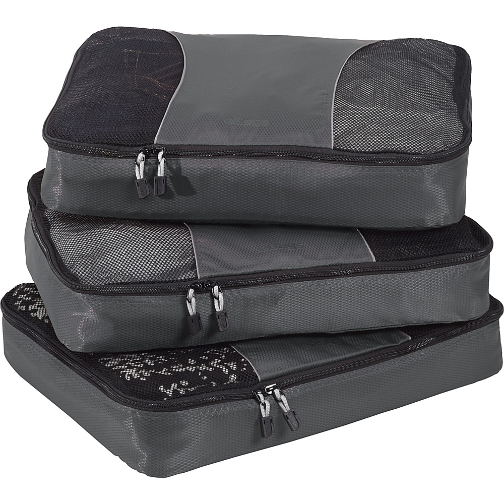eBags Large Packing Cubes - 3pc Set - Titanium - Travel Accessories, Travel Organizers