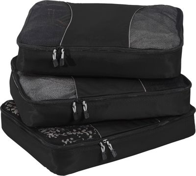 eBags Large Packing Cubes - 3pc Set - Black