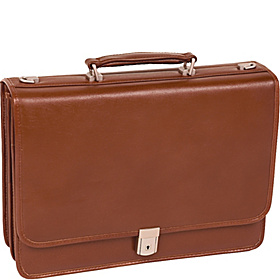 Lexington Double Compartment Laptop Case Brown