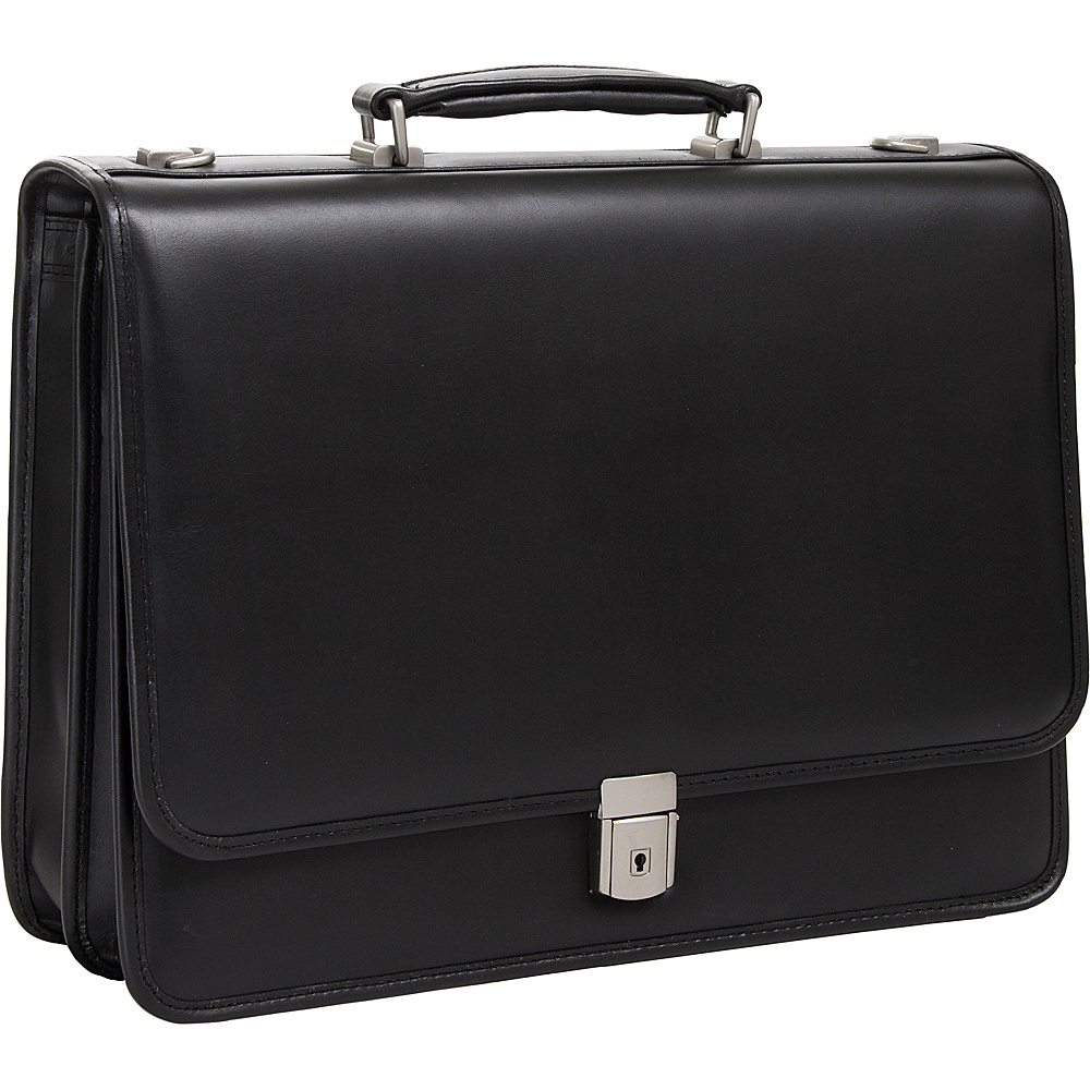 McKlein USA Lexington 15.6 Double Compartment Laptop Case Black - McKlein USA Non-Wheeled Business Cases - Work Bags & Briefcases, Non-Wheeled Business Cases