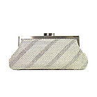 Buy Whiting and Davis Dimple Mesh Clutch with Swarovski Crystals by Whiting and Davis