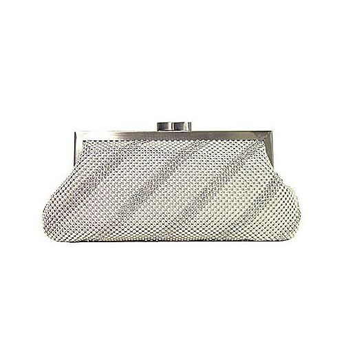 Whiting and Davis Dimple Mesh Clutch with Swarovski - Clutch