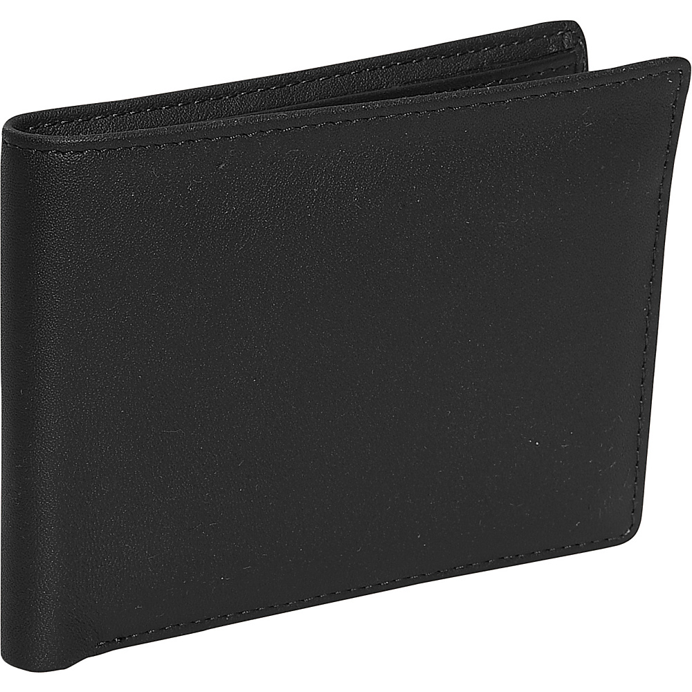 Royce Leather Mens Id Flat Fold Wallet - Black - Work Bags & Briefcases, Men's Wallets