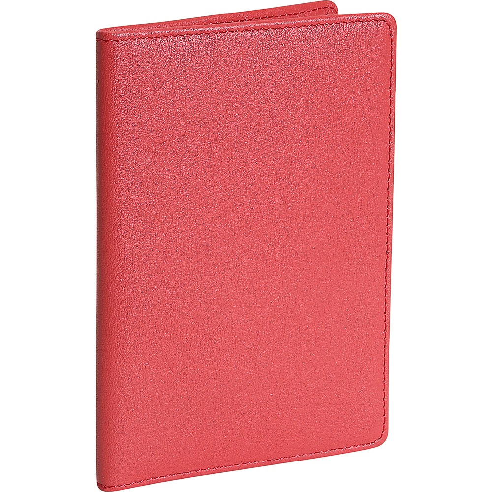 Royce Leather Plain Passport Jacket - Red - Travel Accessories, Travel Wallets