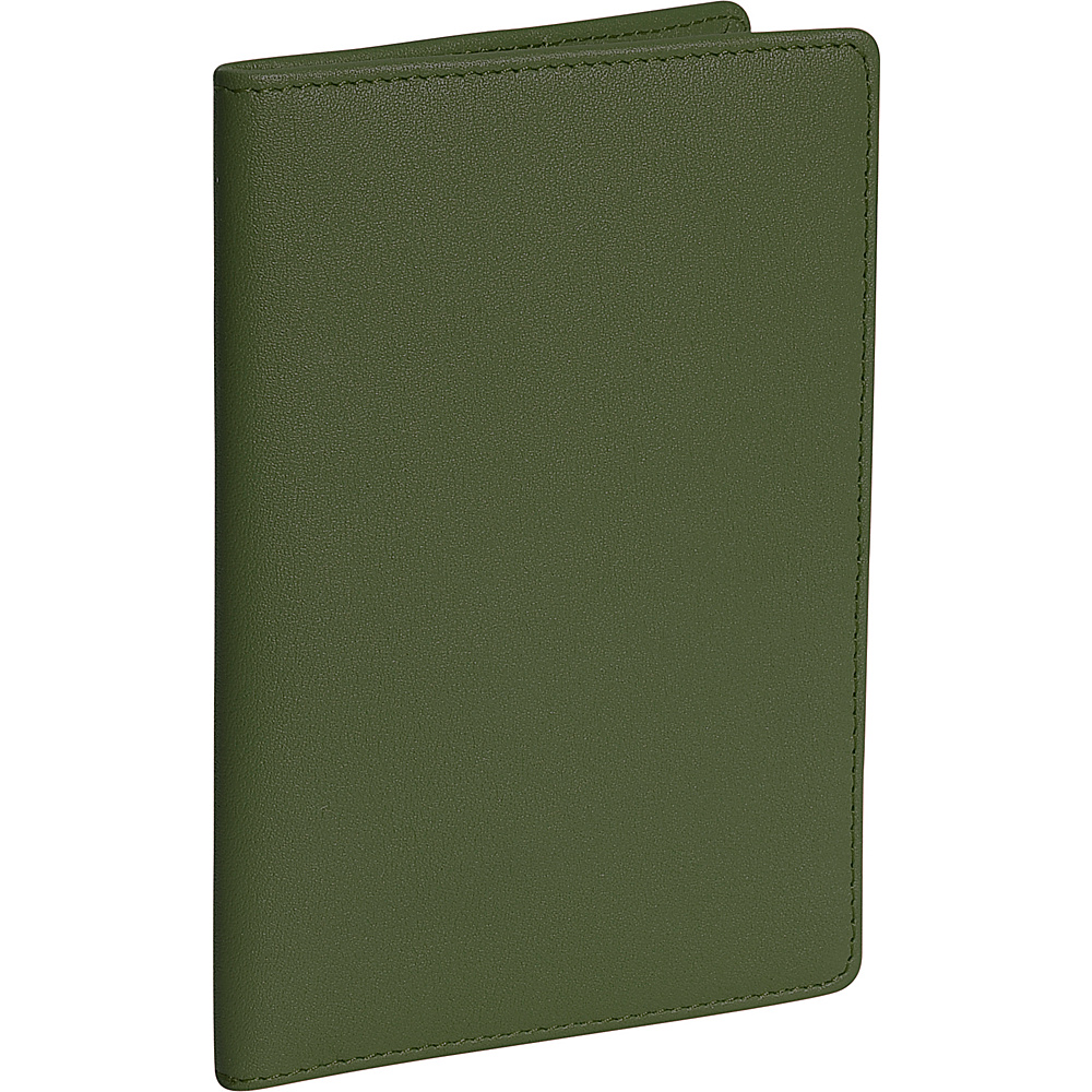Royce Leather Plain Passport Jacket - Green - Travel Accessories, Travel Wallets