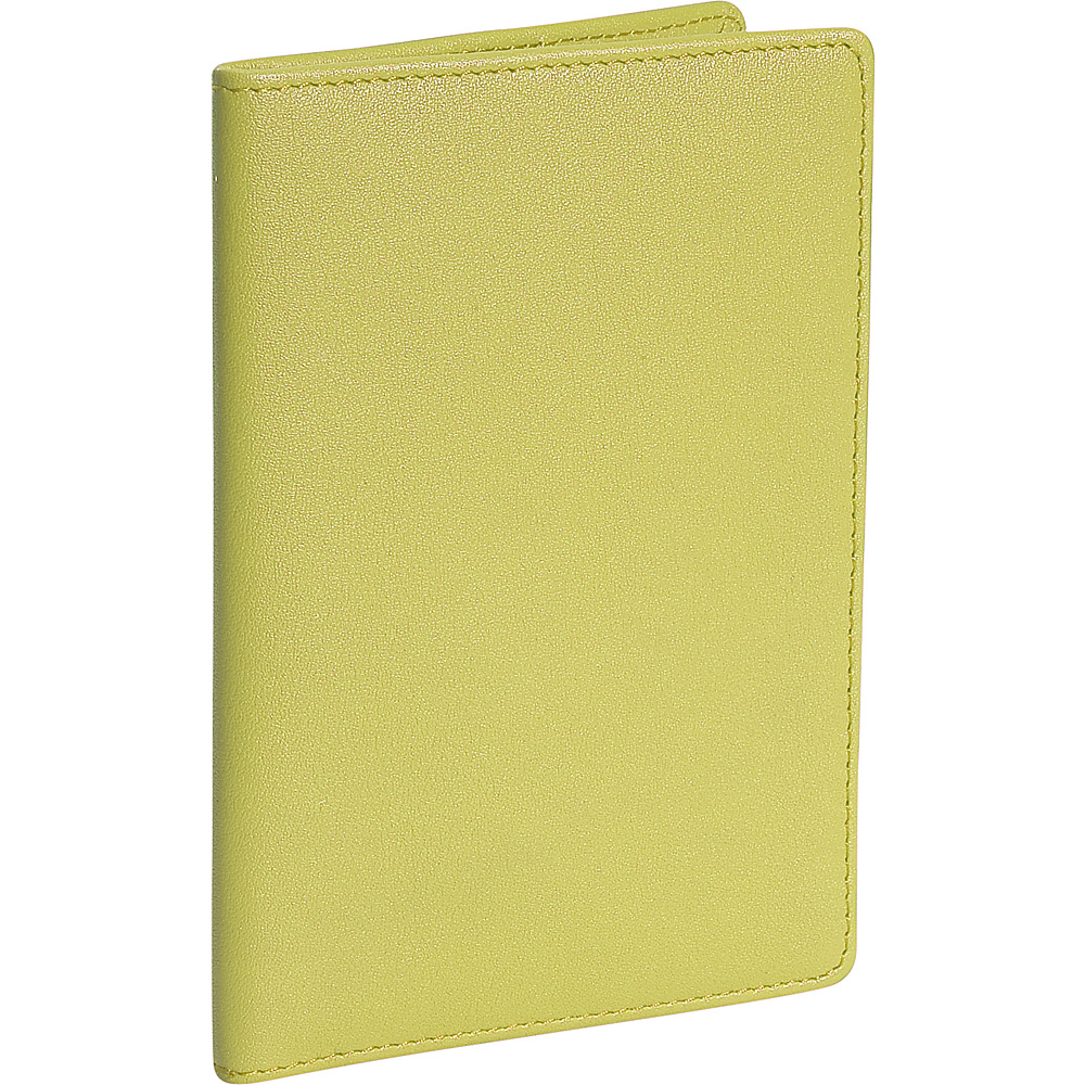 Royce Leather Plain Passport Jacket - Key Lime Green - Travel Accessories, Travel Wallets