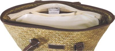 Crescent Moon St Tropez Tote - Natural/Green