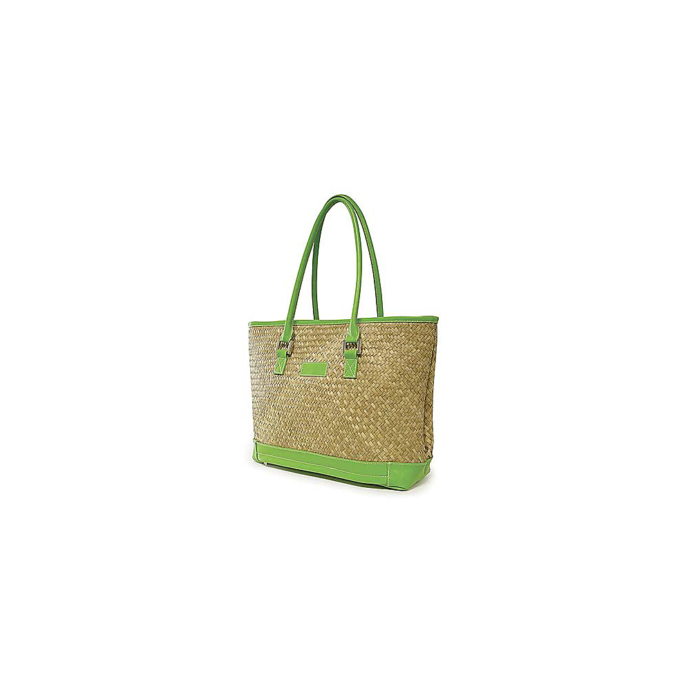 Crescent Moon St Tropez Tote Natural Green