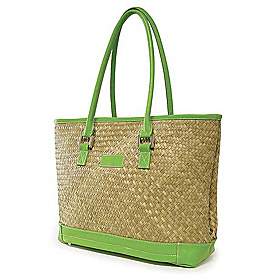St Tropez Tote Natural/Green