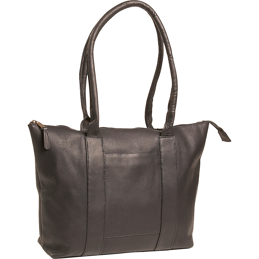 Clava Vachetta Leather Zip Tote - Vachetta Black - Work Bags & Briefcases, Women's Business Bags