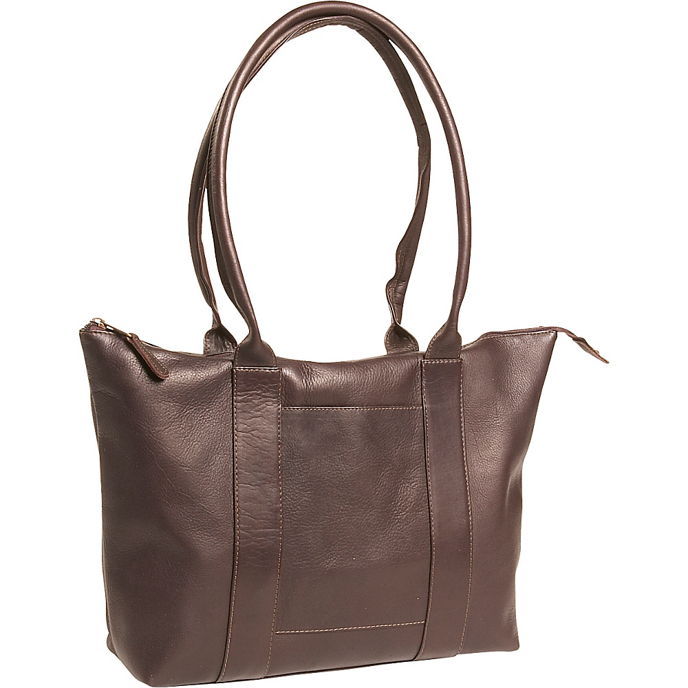 Clava Vachetta Leather Zip Tote - Vachetta Cafe - Work Bags & Briefcases, Women's Business Bags