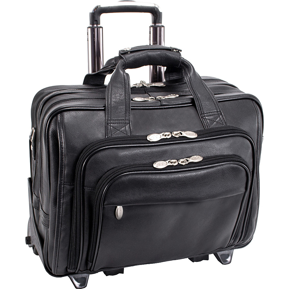 McKlein USA Gold Coast Leather Wheeled 17 Laptop Case - Work Bags & Briefcases, Wheeled Business Cases